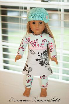 American girl 18 doll clothes doll jersey by francoiselamasolet