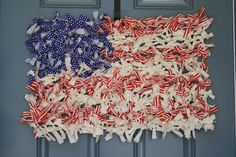 A Diamond in the Stuff: Chicken Wire Rag Flag {Wreath}
