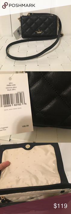 NWT Kate spade Emerson place julee Crossbody bag Brand new with tags, never used, black quilted pattern, beautiful Crossbody bag kate spade Bags Crossbody Bags