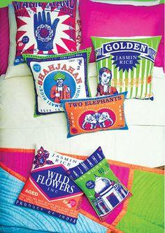 Koko & Co. - bedding designs based on Indian rice bags