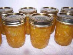 Pineapple jam - made w/canned pineapple (these instructions seem a little confusing - but it's a starting point). I would attempt this with Splenda - but it still seems pretty carb-y. Canning Tips, Home Canning, Canning Recipes, Pineapple Jam, Canned Pineapple, Orange Marmalade Recipe, Jelly Maker, Orange Jam, How To Make Orange