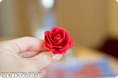 How to make small gum paste roses