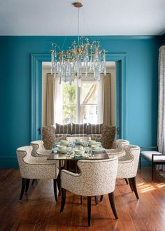 Home Decor Ideas: Victorian Renovation- *COLOR is to die for. Not sure about the chair assortment* Tara Jean