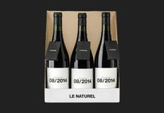 Wine packaging designed by Moruba for Le Naturel by Graci