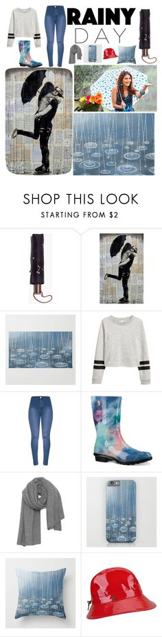 """☔Rainy Day"" by annasavagelit ❤ liked on Polyvore featuring Madewell, UGG, American Vintage and Karen Kane"
