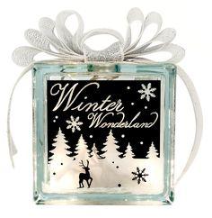Nicole™ Crafts Winter Wonderland Glass Block #christmas #glassblock