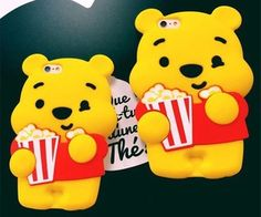 Cell Phone Cases - Cute New cartoon Popcorn winnie pooh silicone soft case cover for iphone plus - Welcome to the Cell Phone Cases Store, where you'll find great prices on a wide range of different cases for your cell phone (IPhone - Samsung) Iphone Cases Cute, Cute Cases, Diy Phone Case, Iphone Phone Cases, Phone Accesories, Disney Phone Cases, Accessoires Iphone, Cell Phone Covers, Coque Iphone