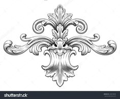 Vintage Baroque Frame Leaf Scroll Floral Ornament Engraving Border Retro Pattern Antique Style Swirl Decorative Design Element Black And White Filigree Vector - 248578690 : Shutterstock