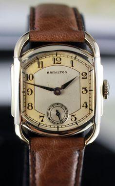 Hamilton Bagley Art Deco Watch Circa 1939 with Hamilton Presentation from vintagewatches on Ruby Lane