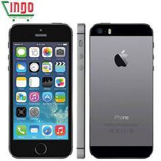 """Iphone 5 s 원래 공장 잠금 해제 apple iphone 5 s 16 기가바이트 32 기가바이트 64 기가바이트 rom 8MP iOS 9 4.0 """"IPS 8MP 와이파이 GPS SIRI WCDMA 3 그램 휴대 전화"""
