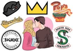 Riverdale Stickers #bughead