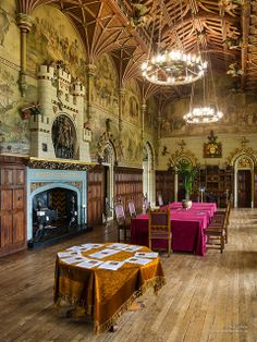 Banqueting Hall - Cardiff Castle  designed by William Burges   by cybertect, via Flickr