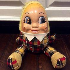 Knickerbocker Humpty Dumpty Mask Face Plush Doll, Vintage Humpty Dumpty Doll, Antique Nursery Rhyme Plush, Antique Humpty Dumpty by Lalecreations on Etsy
