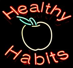 Healthy Habits sign