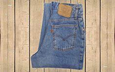 Vintage Levis 726 Denim Jeans Orange Tab 90s Stonewash Blue Tapered Leg W31 L34 by BlackcatsvintageUK on Etsy