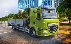 Download wallpapers DAF LF, 4k, street, 2018 truck, Euro 6, new LF, cargo transport, trucks, DAF