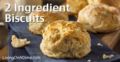 This 2 ingredient homemade biscuits recipe is a quick and easy way to make tasty biscuits. If you need biscuits in a hurry, this recipe is especially handy!