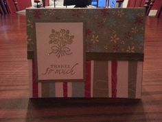 Handmade Thank you card by Shelly Skinner