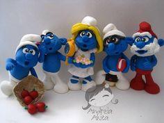 Os Smurfs - decoração de festa   Andreia  Akita   19351B - Elo7