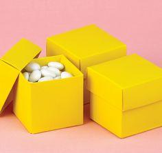 Yellow Wedding Favor Boxes