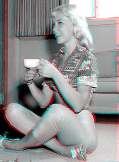 barbara eden, actriz, usa | Flickr – Compartilhamento de fotos! 3d anagliph photo, use red cian glasses to view
