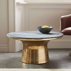 Marble Topped Pedestal Side Table Marble Top Marbles And Tables - West elm pedestal side table