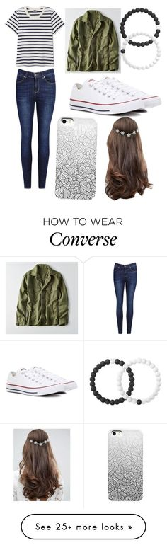 """How to wear converse"" by sydaroo31 on Polyvore featuring American Eagle Outfitters, Converse, Lokai and ASOS"