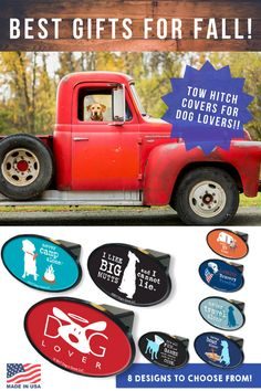 It's Fall Y'all!! Trailer Hitch Covers have arrived and they are the perfect autumn gift for any dog lover with a SUV or truck. Do you have a boat, RV or other fun toy?! This hitch cover is perfect for when you're not out enjoying the outdoors with dog. This trailer hitch cover is sure to turn heads! Special Features Include:  Fits 2″ Receivers High Impact ABS Plastic Construction Made in the USA #fallgifts #trucks #trailerhitch #towinggear #doglover #cutedog #doggear