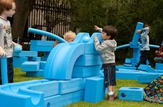 I love this concept-Imagination playground-A playground where children use the pieces to create with their own imaginations.