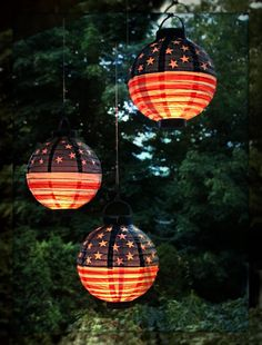 patriotic lanterns purchased at the christmas tree shoperie pa 149 - Christmas In The Country Erie Pa