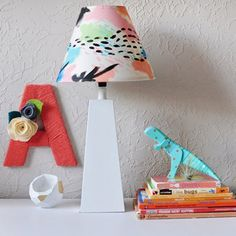 See how simple it is to create this Colorful and FUN painted lamp shade!