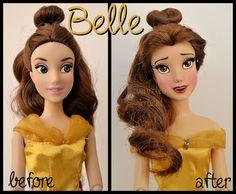 repainted ooak princess belle doll. by verirrtesIrrlicht.deviantart.com on @DeviantArt