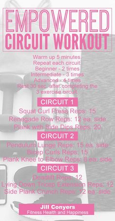 Empowered Circuit Workout and Playlist - Jill Conyers