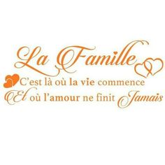 Famille Phrase Tattoos, French Quotes, Family Love, Positive Affirmations, Best Quotes, Motivational Quotes, Poems, Clip Art, Positivity