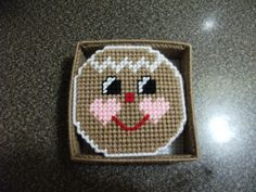 Gingerbread Plastic Canvas Coaster Set by CraftingCritters on Etsy https://www.etsy.com/listing/163430849/gingerbread-plastic-canvas-coaster-set