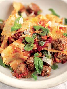 Jamie's Pappardelle With A Ragu Of Tiny Meatballs