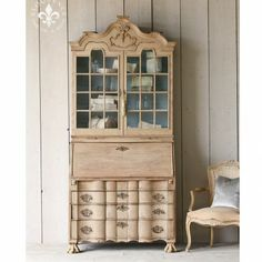 Antique Dutch Pine Secretary Desk $4,945.00 #thebellacottage #shabbychic