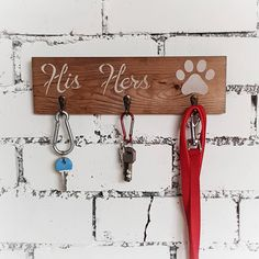 Items similar to Rustic His Hers Key and Lead Holder - Couples Wall Hallway Organiser - Housewarming Gift for Dog Owner on Etsy First Home Gifts, New Home Gifts, Gifts For Dog Owners, Dog Gifts, Housewarming Gifts For Couples, Housewarming Party, Wall Key Holder, Key Organizer, Couple Gifts