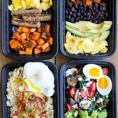 Make-Ahead Breakfast Meal Prep Bowls: 4 Ways