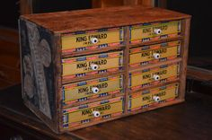 repurposed cigar boxes | Artful Panoply: Cigar Box Storage