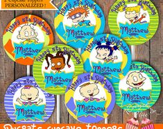 This item is unavailable 1st Birthday Party Themes, Baby Boy 1st Birthday, Birthday Ideas, Rugrats Characters, Rugrats All Grown Up, Paper Mache Letters, Party Ideas, Event Ideas, Theme Ideas