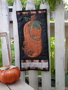 Be Thankful Quilted Pumpkin Wall Hanging by WhimsicalCotton, $15.95