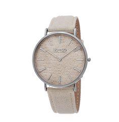 So&co New York Unisex SoHo Quartz Denim Covered Leather Watch, Size: 41 mm, Beige Online Watch Store, New York Mens, High End Fashion, Soho, Jewelry Watches, Quartz, Ivory, Unisex, Leather
