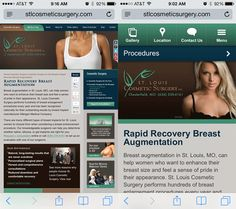 Left: desktop version of a site scaled down to fit the screen. Right: #mobile optimized page design. What do you think?