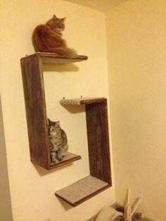 Cat Tree Hanging Shelf Unit Set of 2 by WODdawgApparel on Etsy