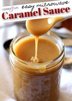I'm showing you how to make Easy Caramel Sauce in the MICROWAVE! It can be made in just minutes with 5 ingredients and is buttery, rich and perfect to drizzle on ice cream! Add a pinch of salt for salted caramel sauce! Microwave Caramel Sauce Recipe, Caramel Sauce Easy, Butterscotch Sauce Recipes, Microwave Cookies, Microwave Caramels, Caramel Dip, Homemade Caramel Sauce, Caramel Recipes, Salted Caramel Sauce