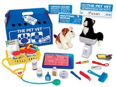 The Pet Vet Clinic - great way to practice measurements and comparing.  Weigh, measure height, length, etc. of your furry patients.