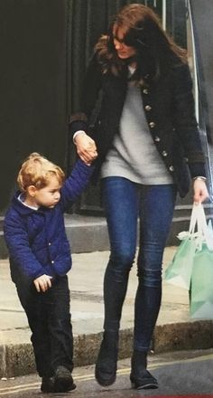 December 2015 - Kate and George are spotted out shopping for Christmas