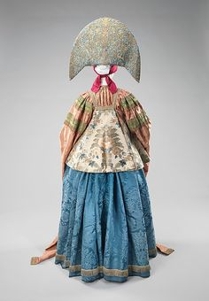 Traditional Russian ensemble, 19th century Russia, the Met Museum