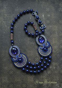 """Колье, бусы ручной работы. Ярмарка Мастеров - ручная работа Колье """"blue opium"""". Handmade."""
